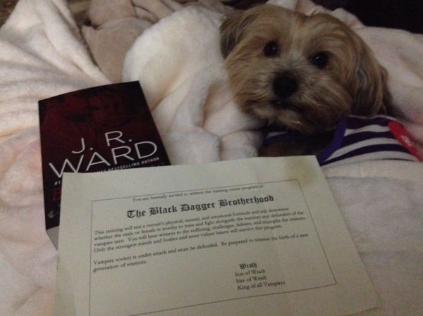 Invite from Wrath! This was just awesome! #BonniePuppy our Reading in Pajamas mascot Approved this book:)